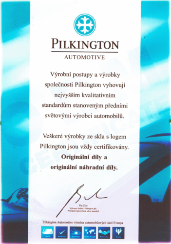 pilkington cert