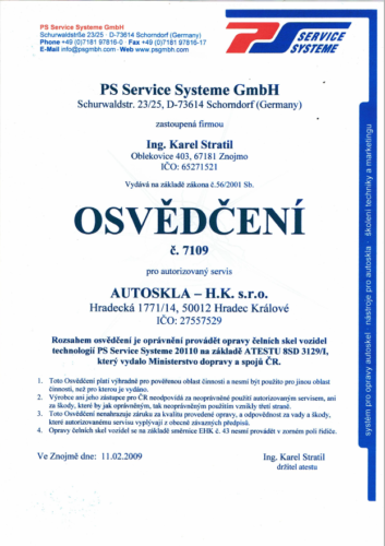 ps service systeme cert